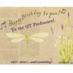 Happy Birthday to the OT Profession!