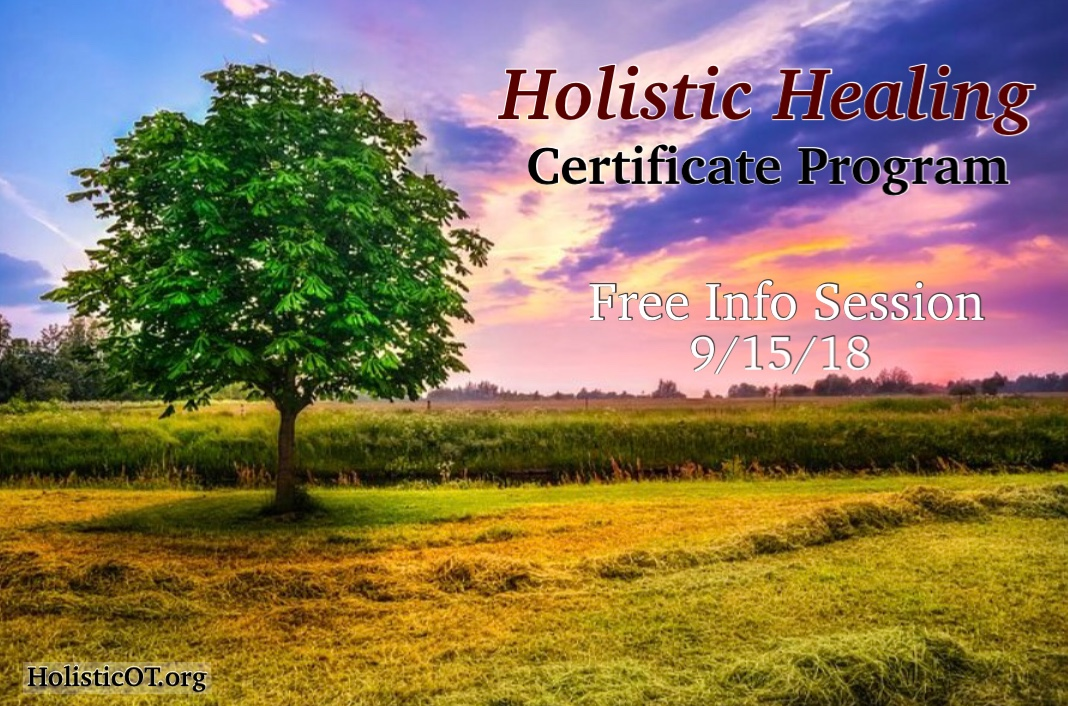 HolisticHealingCertificateProgramFreeInfoSession091518