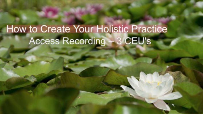 Holistic Practice Class 1/2 Off